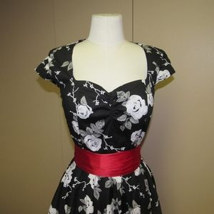 hell bunny vixen floral pin up dress
